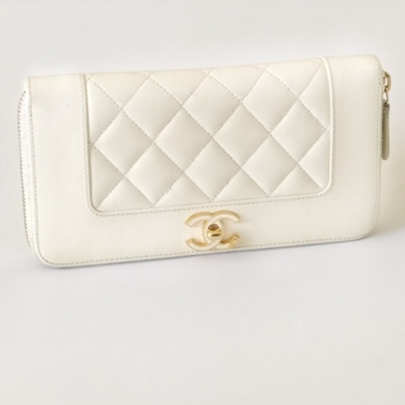 4a9d2743666a CHANEL Handbags - CHANEL Mademoiselle Zip Around Wallet Ivory